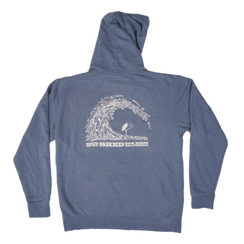 Board Barrel Pigment Dyed Pullover Hoodie - Slate Blue
